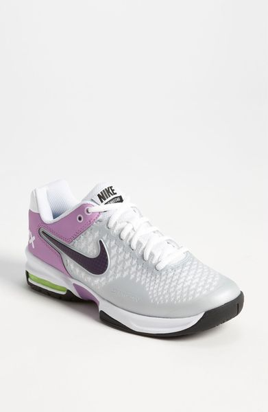 Nike Air Max Cage Tennis Shoe Women in (grey/ purple