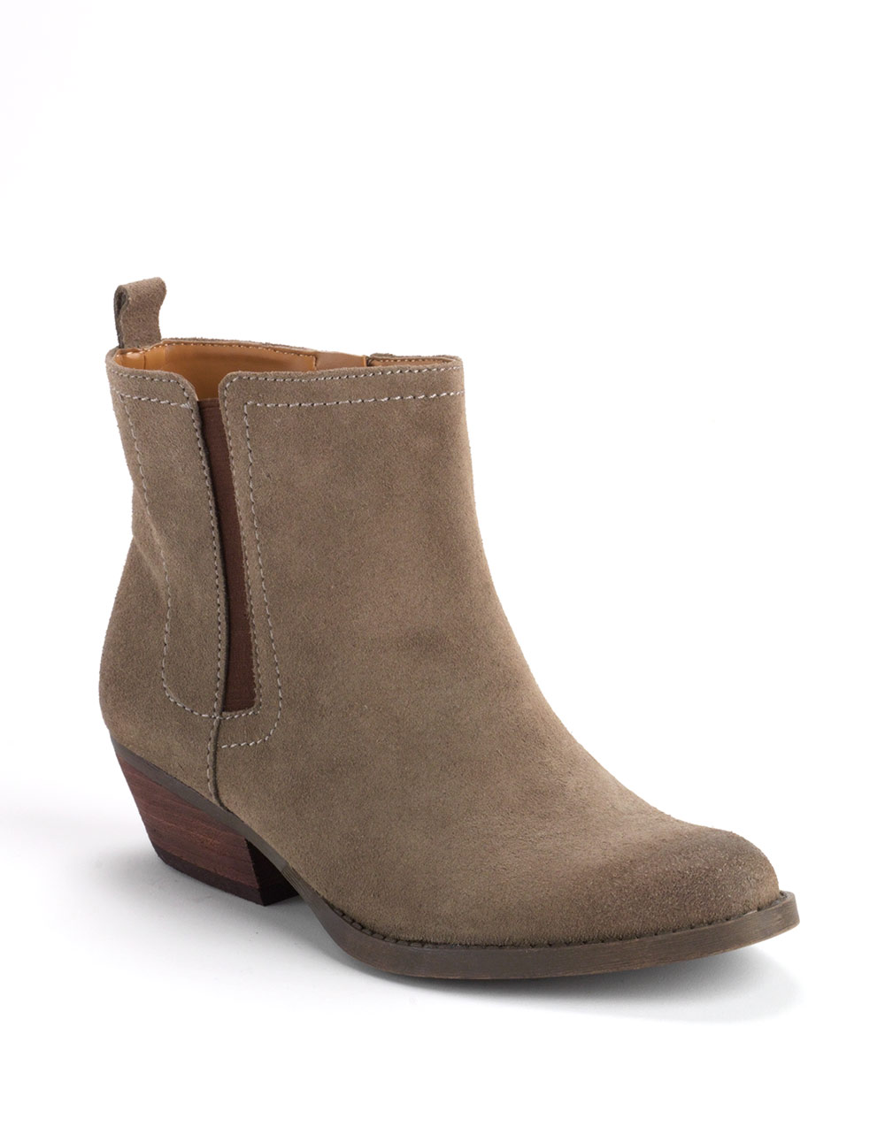 nine west sosie suede ankle boots in brown taupe brown