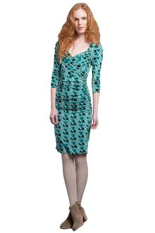 Plenty By Tracy Reese Printed and Ruched Jersey Dress - Lyst