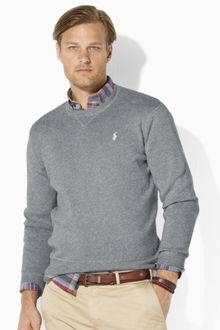 Polo Ralph Lauren Long Sleeved Combed Cotton Crewneck Sweater - Lyst