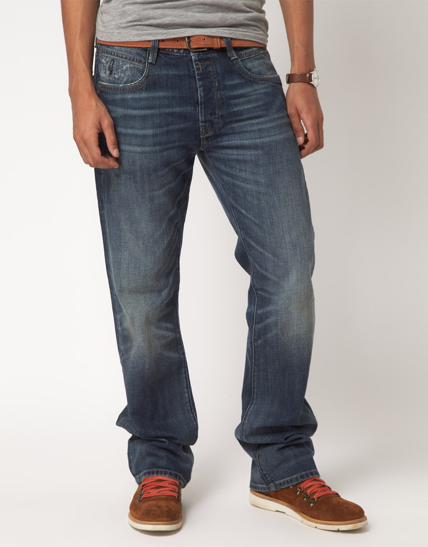 Replay Jimi Regular Bootcut Jeans in Blue for Men | Lyst