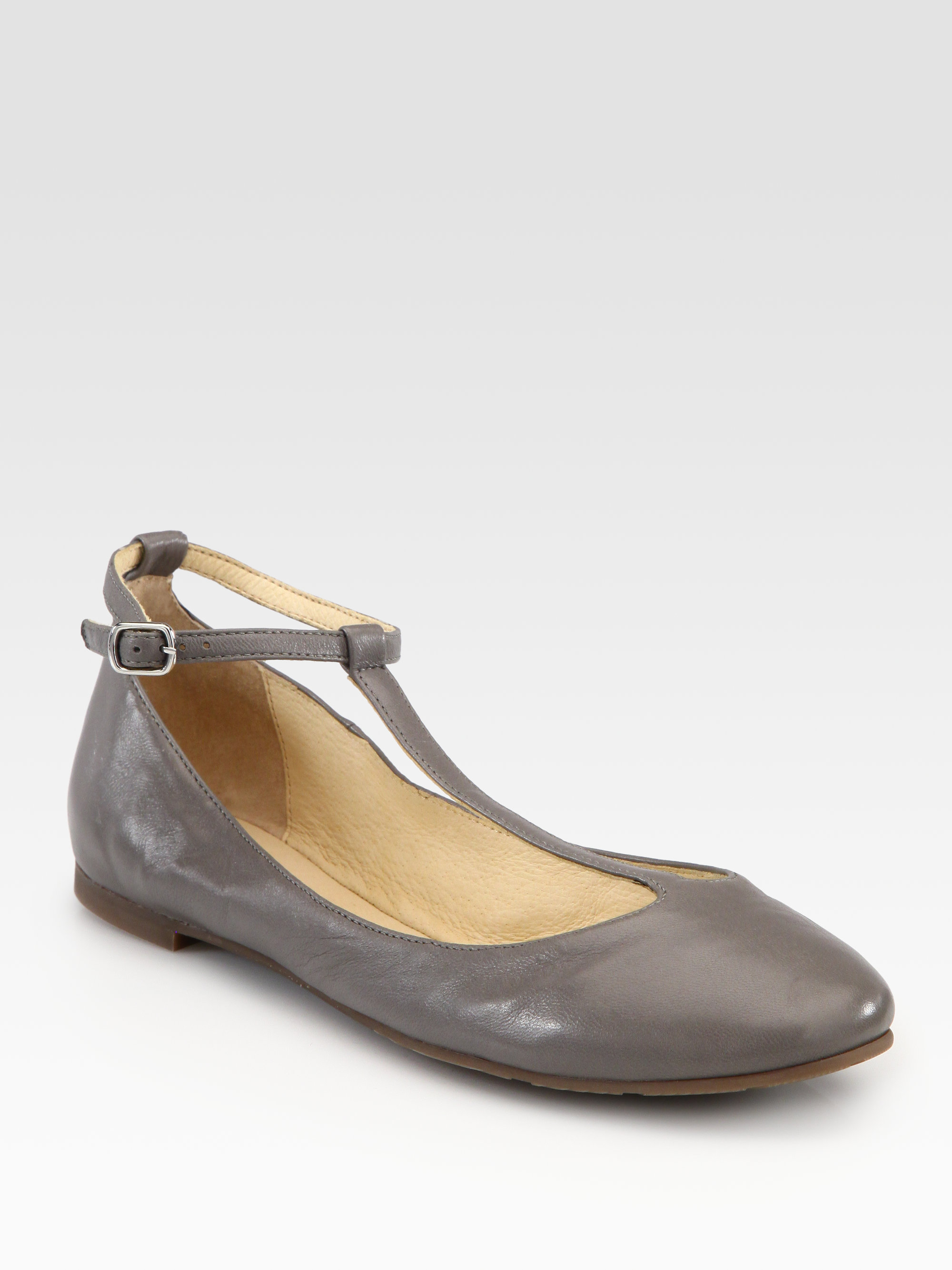 fe77592d1 See By Chloé Leather Tstrap Mary Jane Ballet Flats in Black - Lyst