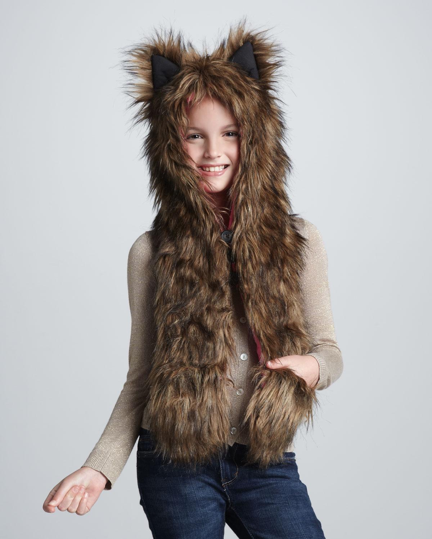 Lyst - Skaist Taylor Target Girls Faux Fur Hat in Brown a8bb2c0b3ae1