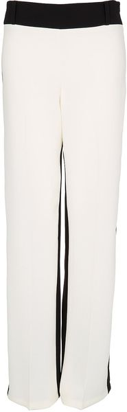 Topshop Colour Block Wide Leg Trousers - Lyst