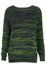 Topshop Knitted Fluro Twist Jumper - Lyst