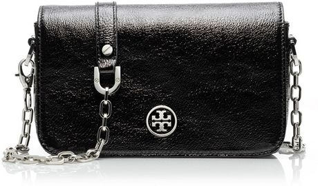 Tory Burch Robinson Adjustable Mini Bag in Black - Lyst