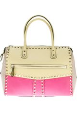 Valentino Colour Block Rock Stud Tote