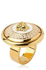 Versace Medusa Gold Plated Metal Ring