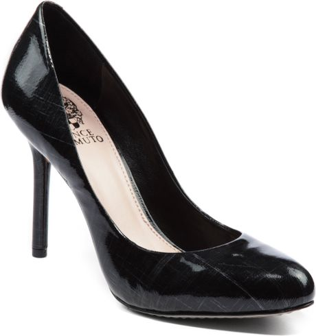 Vince Camuto Caelyn Patent Leather Pumps In Black Black