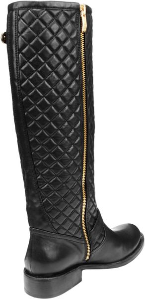 vince camuto wenters leather quilted boots in