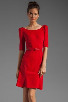 Z Spoke by Zac Posen 3/4 Sleeve V-Neck Dress - Lyst