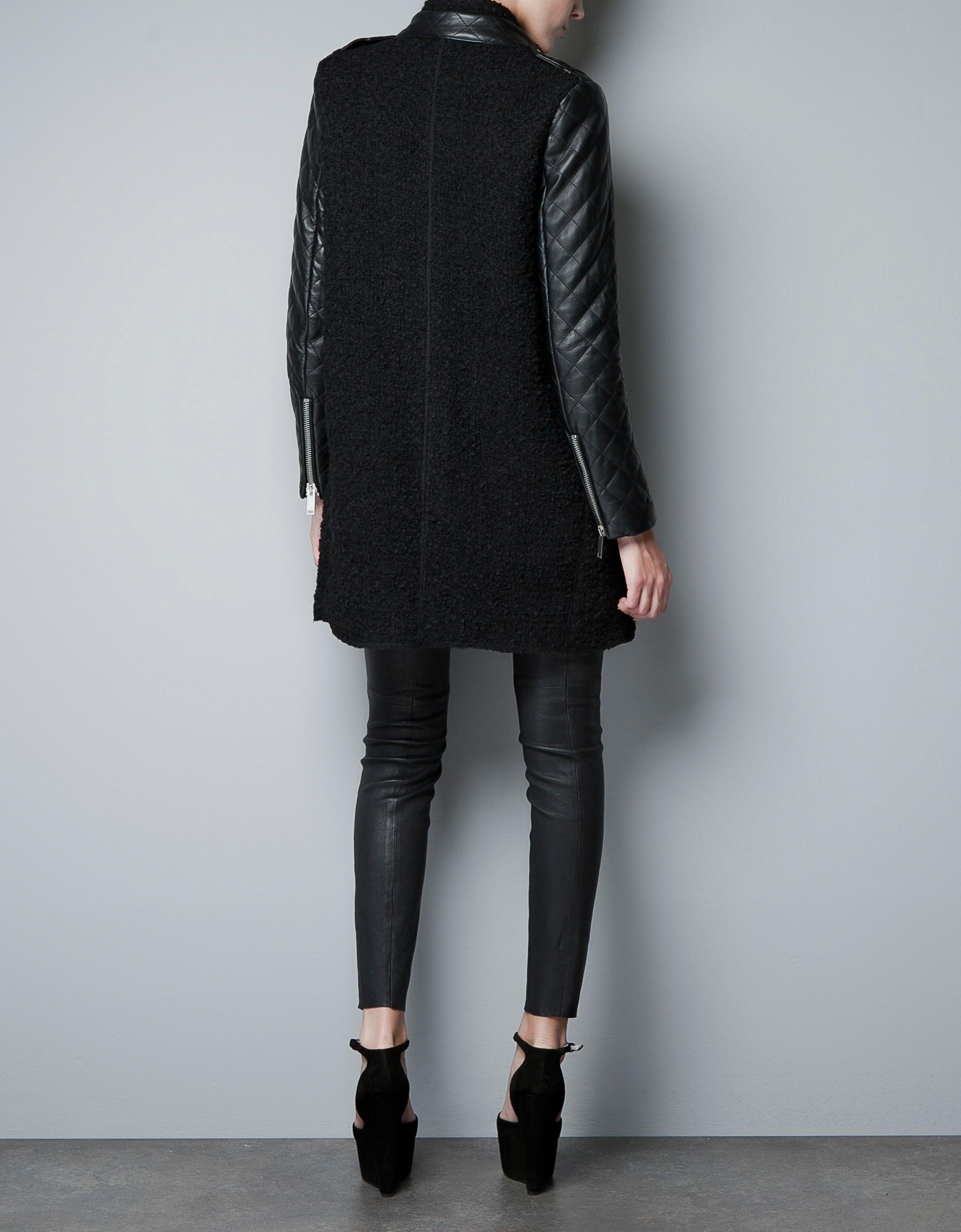 Zara Coat in Black | Lyst