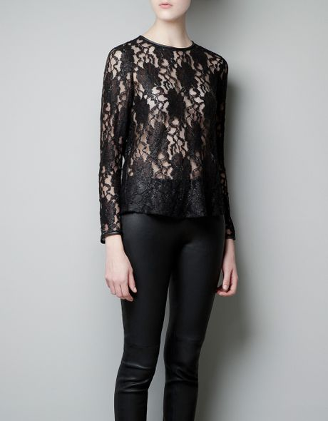 Zara Lace Blouse 48