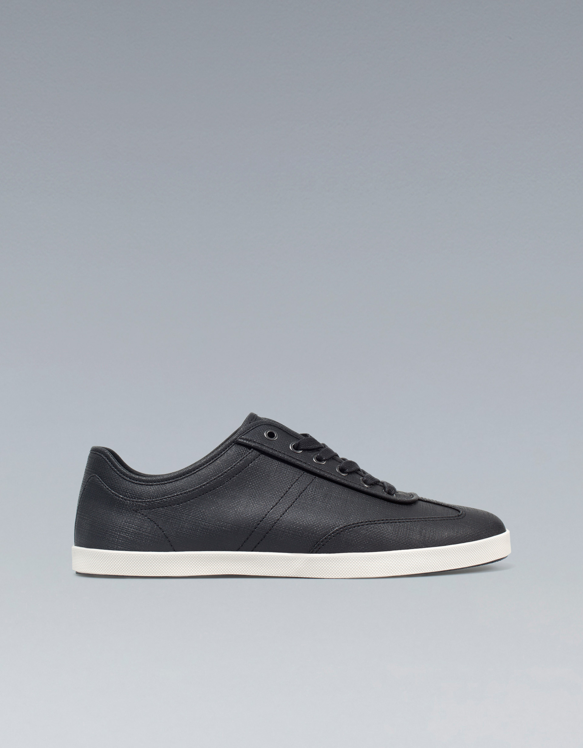 Zara Rubber Sneakers In Black For Men Lyst