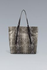 Zara Snakeprint Shopper - Lyst