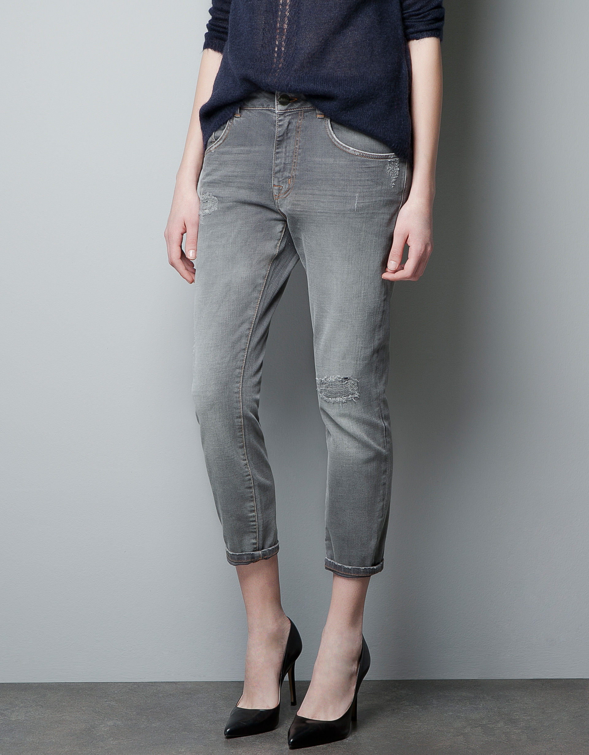 Elegant Zara Baggy Trousers In Black  Lyst