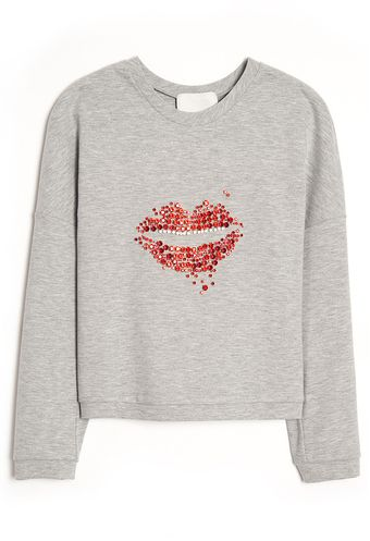 3.1 Phillip Lim Cropped Sequin Lip Pullover - Lyst