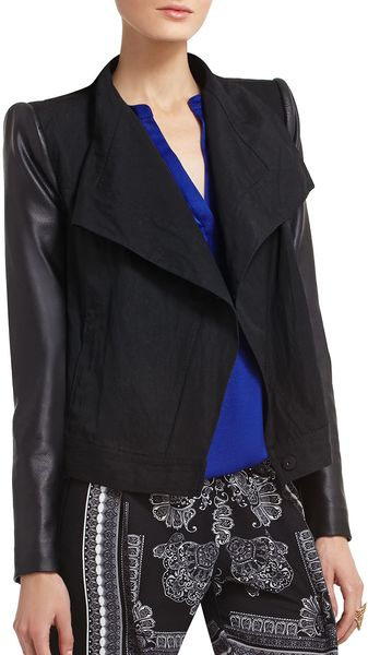 BCBGMAXAZRIA Reneene Draped Jacket - Lyst