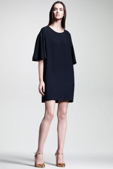Chloé Cady Flutter-Sleeve Dress - Lyst