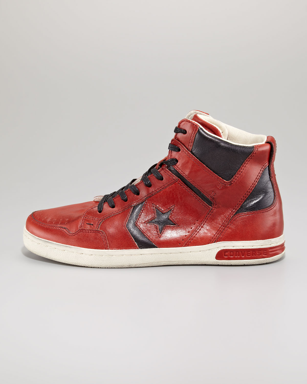 Converse Jv Weapon Leather Hitop In Red For Men Lyst