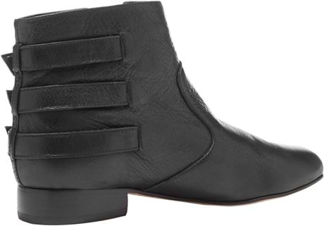 dolce vita bale leather ankle boots in black black