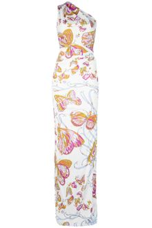 Emilio Pucci One-Shoulder Butterfly Maxi Dress - Lyst