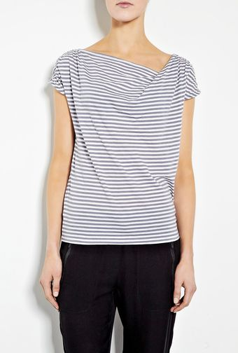 Farhi By Nicole Farhi Cotton Stripe Top - Lyst