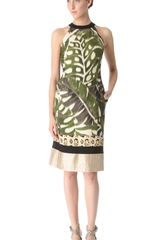 Giambattista Valli Sleeveless Leaf Leopard Dress - Lyst