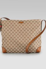 Gucci Canvas Messenger Bag - Lyst