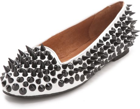 Jeffrey Campbell Mention Spike Loafers in White - Lyst