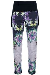 Just Cavalli Venus Printed Trouser - Lyst