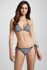La Perla Mondello Striped Triangle Bikini Top - Lyst