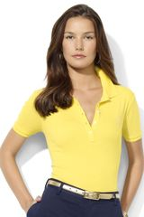 Lauren by Ralph Lauren Short-Sleeved Cotton Polo - Lyst