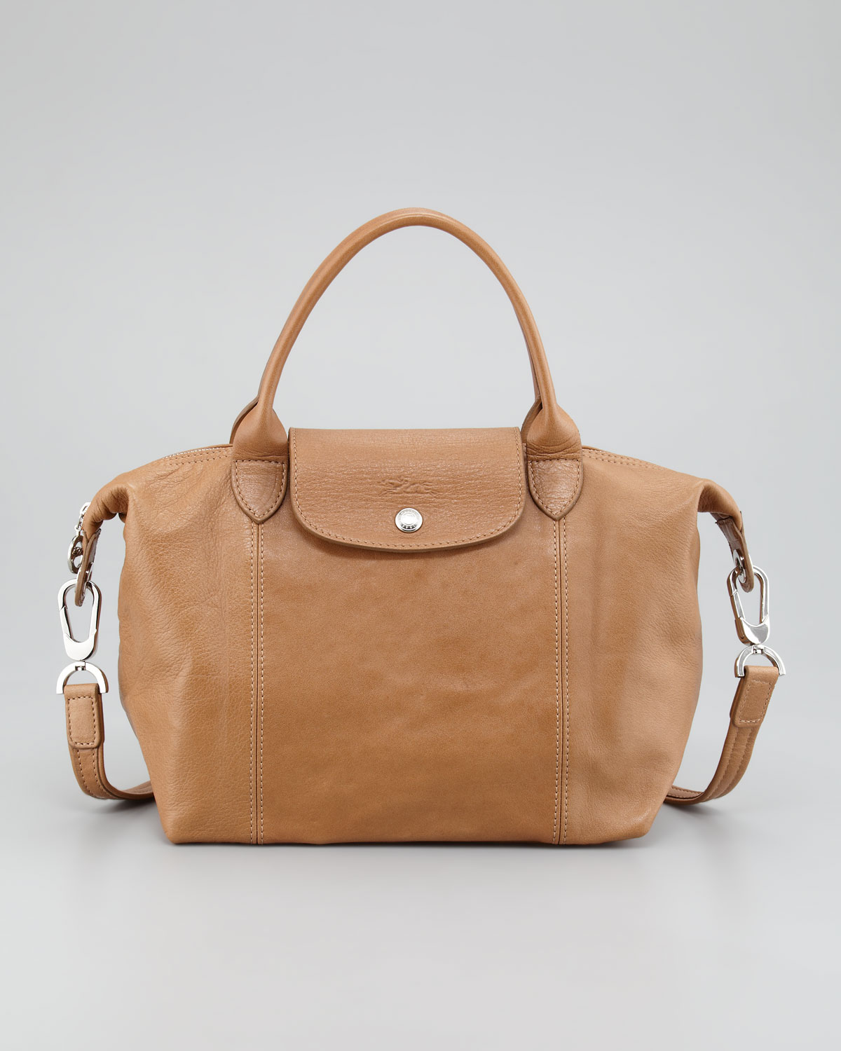 Lyst - Longchamp Small Leather Tote Bag in Brown 6ffbc8f2bd4a4
