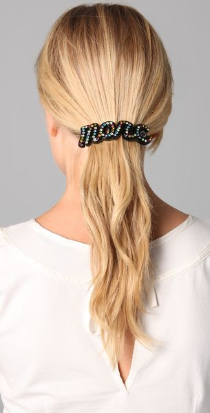 Marc By Marc Jacobs Marc Script Barrette in Black - Lyst