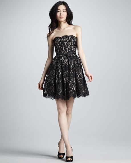 Robert Rodriguez Nm Target Fit And Flare Lace Dress In