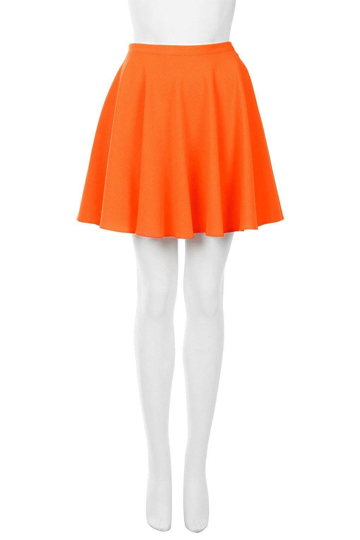 Lyst Topshop Orange Milano Skater Skirt In Orange