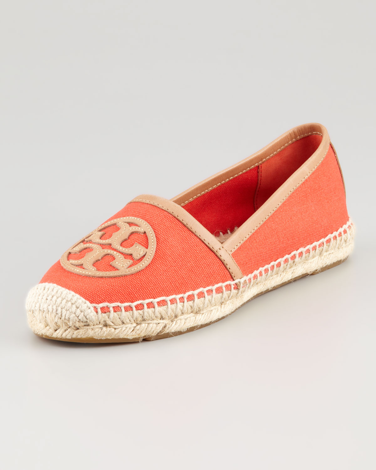 3cefecb1c63 Lyst - Tory Burch Angus Flat Espadrille Slipon in Red