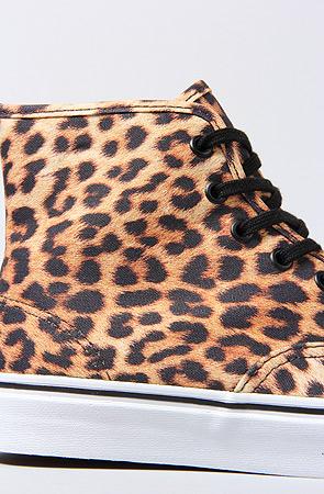 Lyst - Vans The Authentic Hi Sneaker in Leopard baea27fd8
