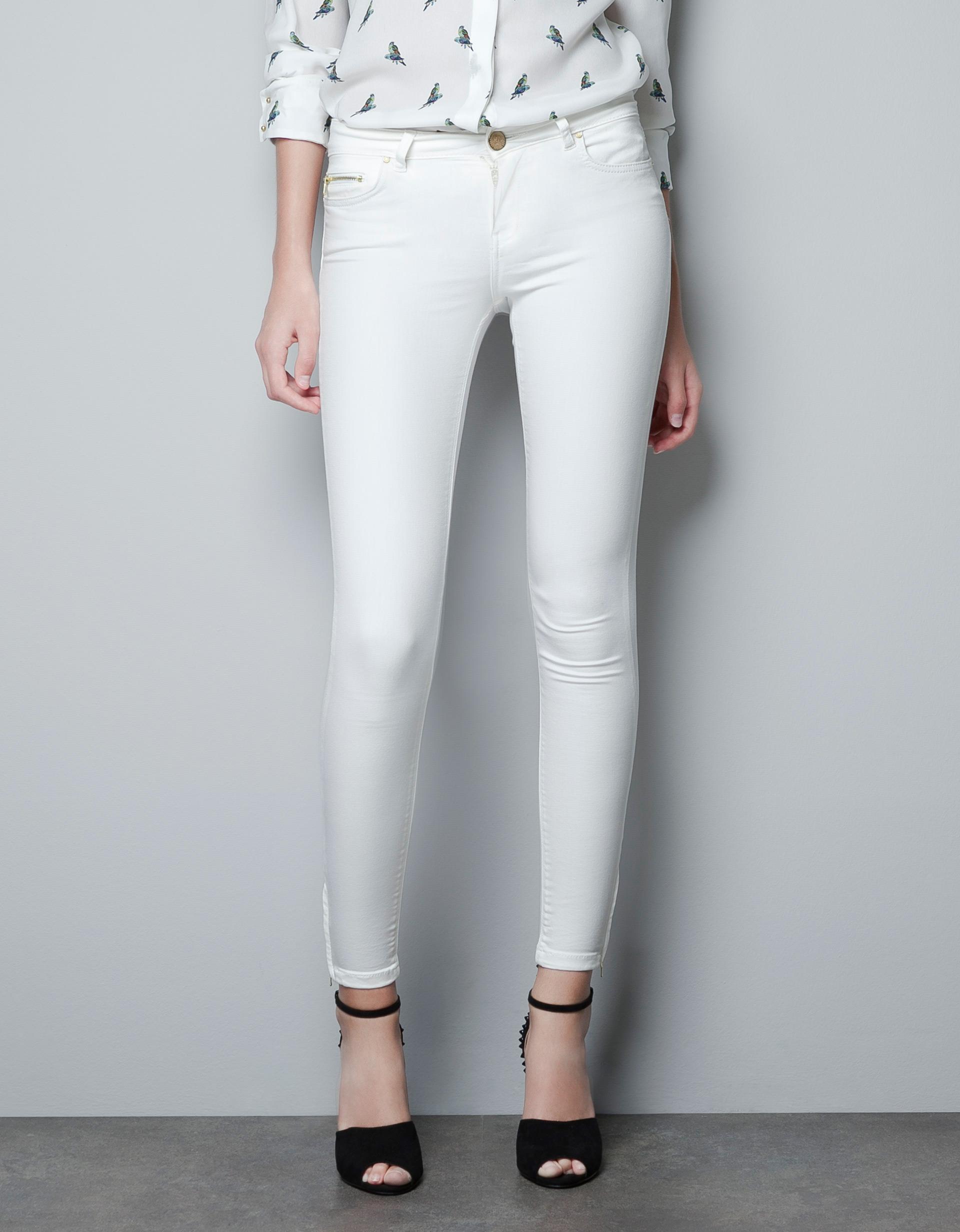 zara stretch in white lyst