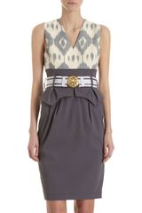 Altuzarra Belted Peplum Dress