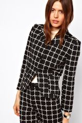 ASOS Collection Ponte Check Blazer - Lyst