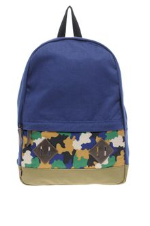 Asos Brand Backpack with Camo Panel - Lyst