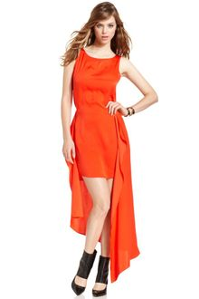 BCBGMAXAZRIA Urika Sleeveless Scoop-neck High-low Dress - Lyst