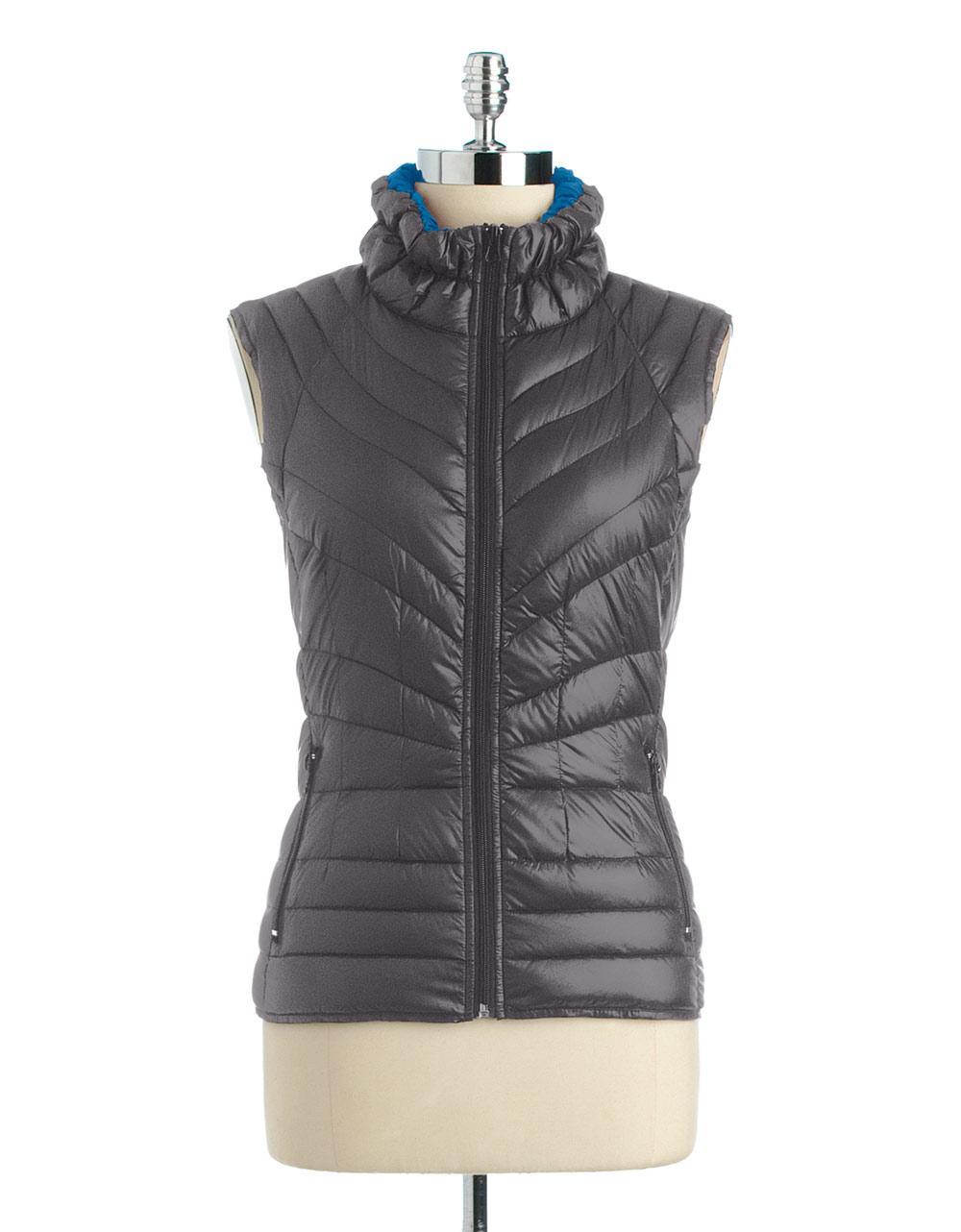 Bernardo Nylon Puffer Vest In Black Lyst