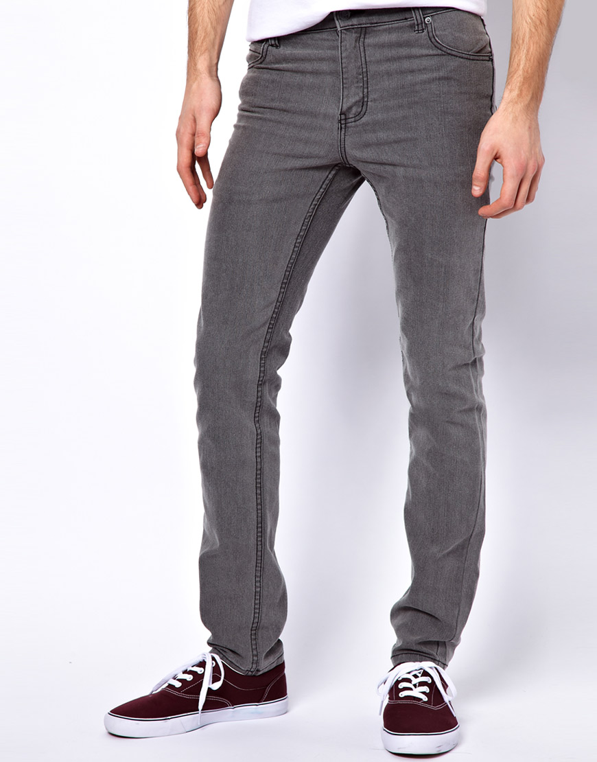 Lyst Cheap Monday Tight Skinny Jeans In Gray For Men