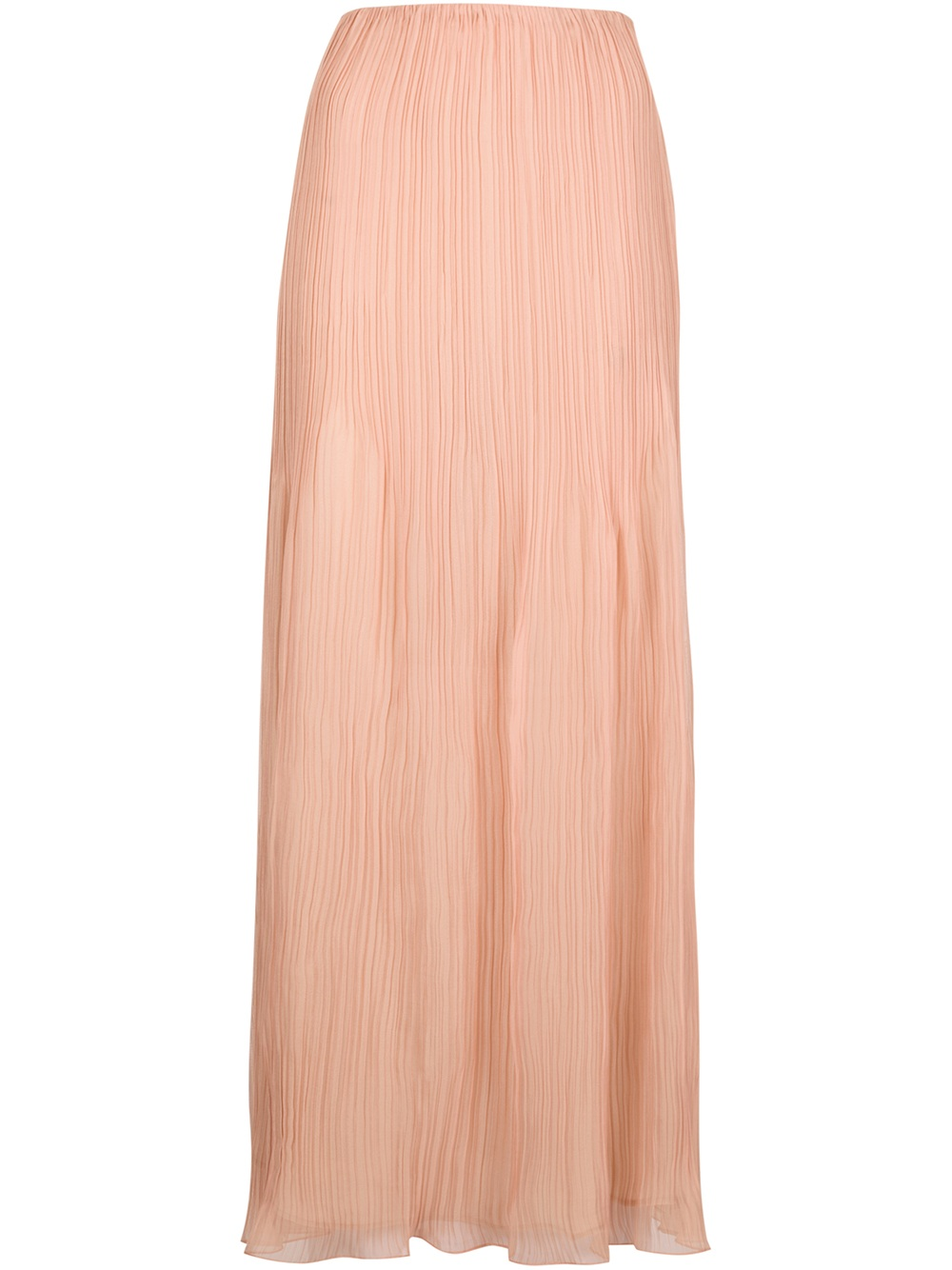 chlo 233 pleated maxi skirt in pink lyst