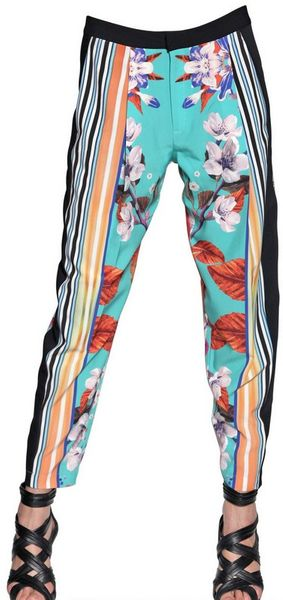 Clover Canyon Orchid Print Soft Trousers - Lyst