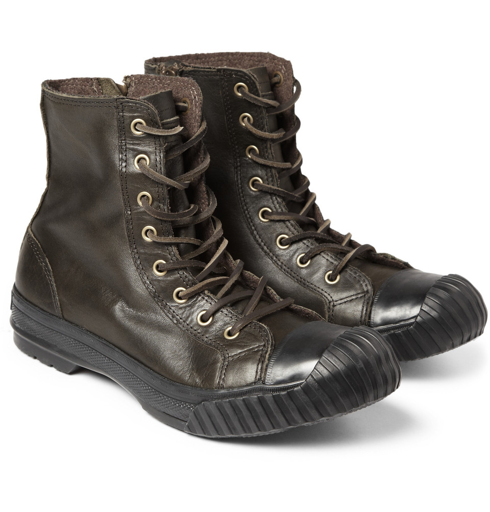 converse bosey chuck all leather boots in