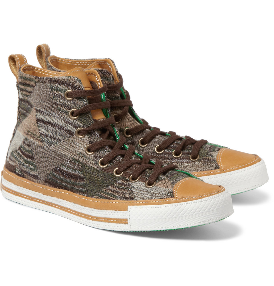 7a3cd0ea88d3 Lyst - Converse Missoni Chuck Taylor High Top Sneakers in Brown for Men